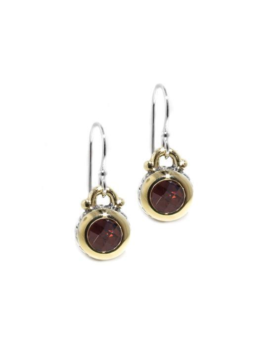 CHOC OVAL LINK COLLECTION CZ FISH HOOK EARRINGS