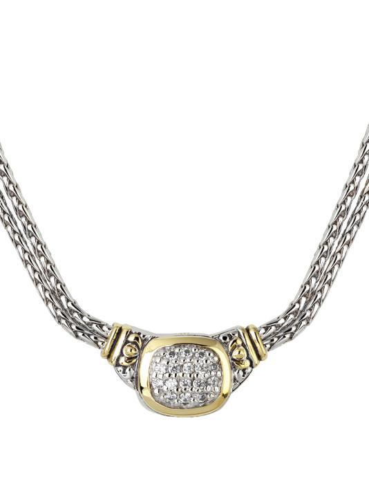 NOUVEAU CZ DOUBLE STRAND NECKLACE