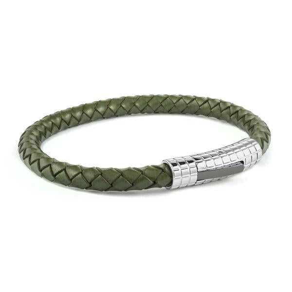 ARMY GREEN LEATHER BRACELET