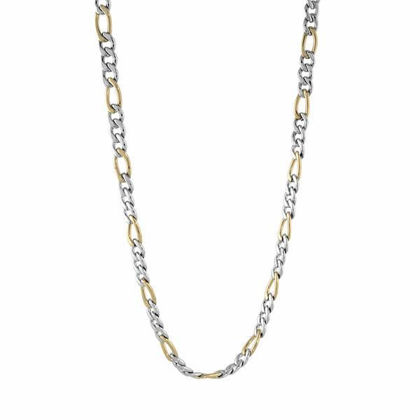 YELLOW-IP 6 MM POLISHED FIGARO CHAIN