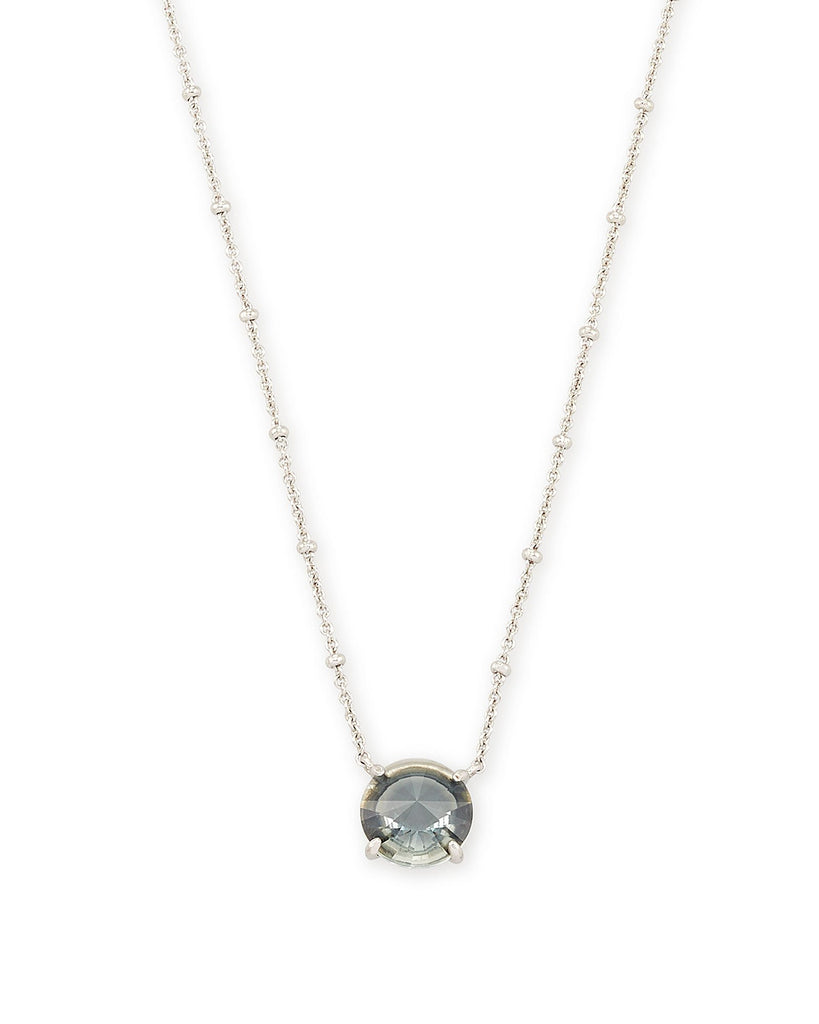 Jolie Silver Pendant Necklace In Charcoal Gray Ombre