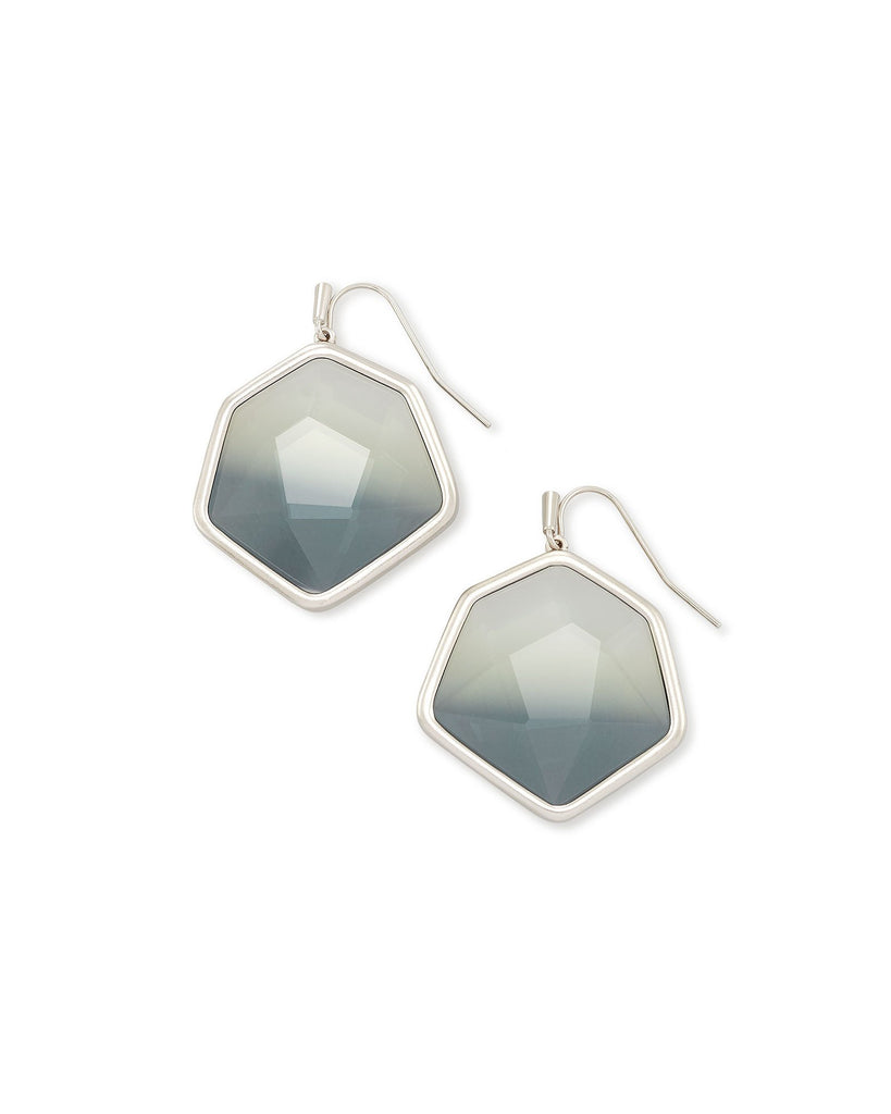 Vanessa Silver Drop Earrings In Charcoal Gray Ombre