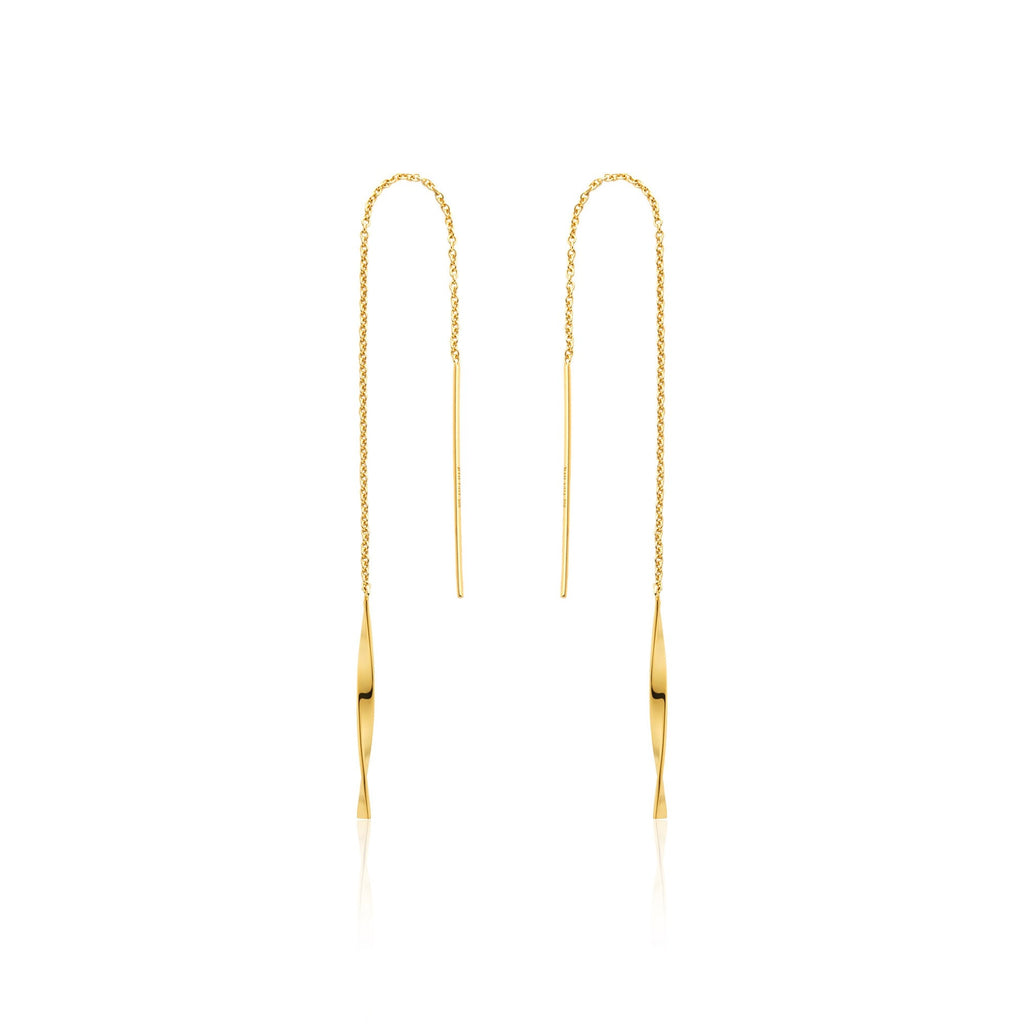 HELIX THREADER EARRINGS