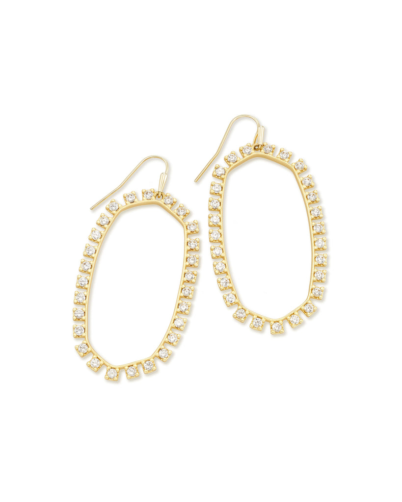 Danielle Open Frame Crystal Statement Earrings