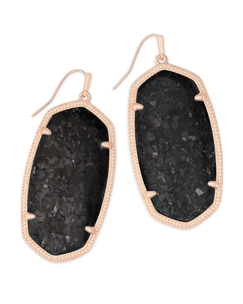 Danielle Rose Gold Drop Earrings Ivory MOP