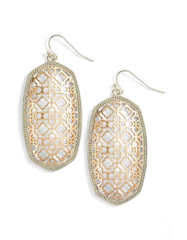 Danielle Gold Drop Earrings - Filigree
