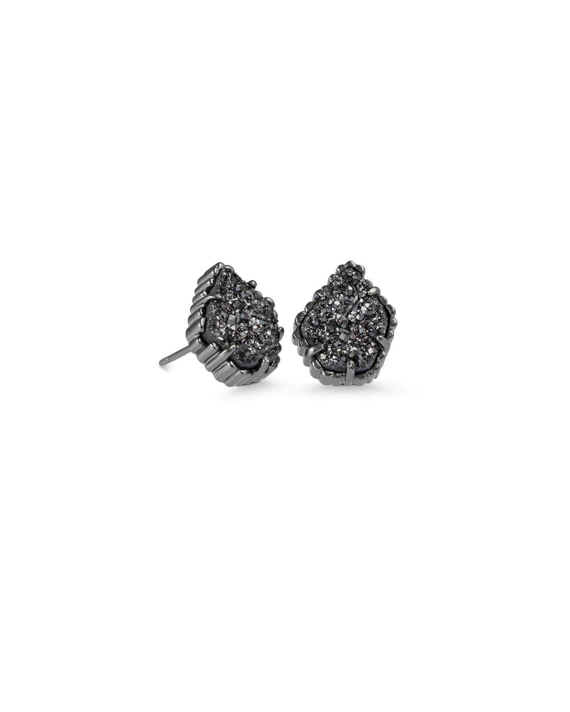 TESSA EARRINGS - GUNMETAL