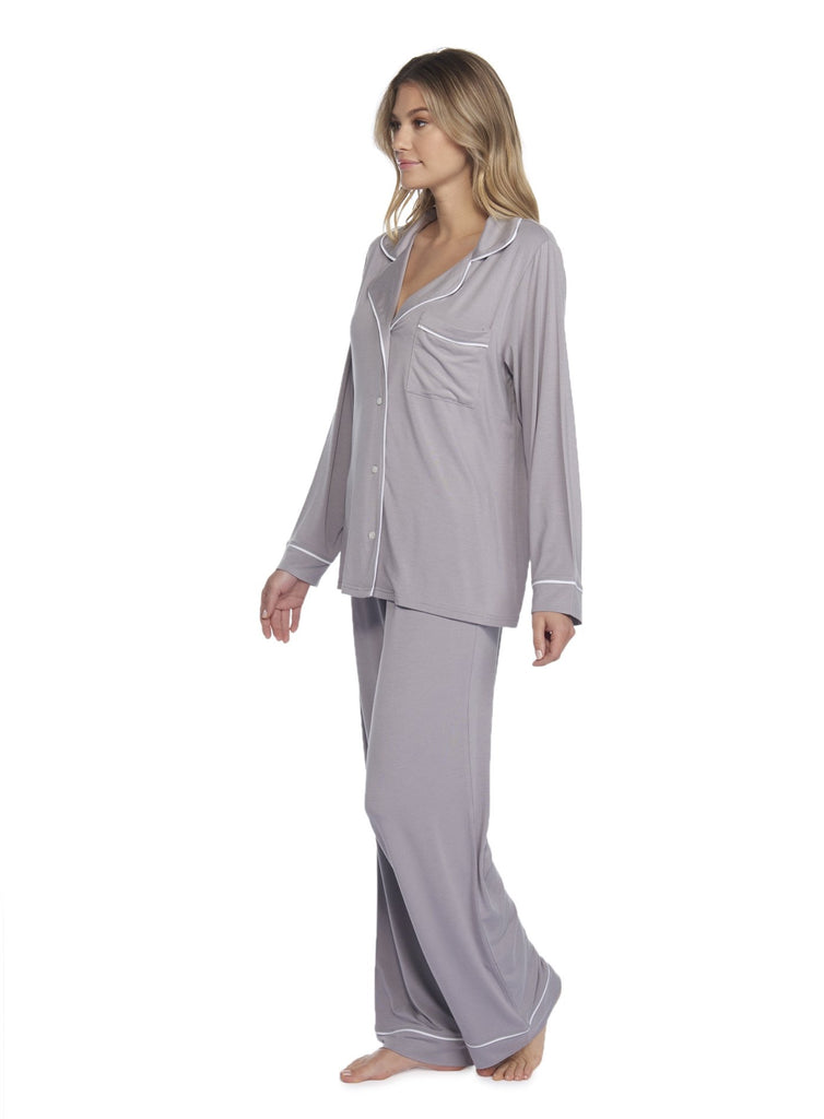 LUXE MILK JERSEY® PIPED PAJAMA SET