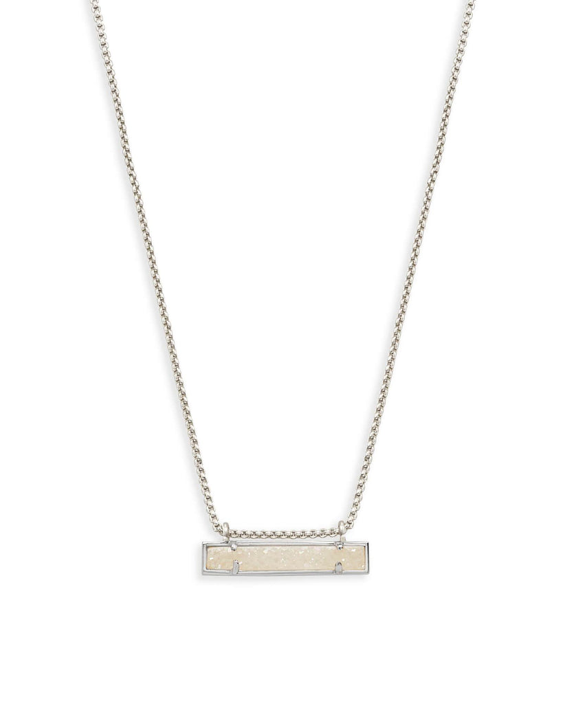 Kendra Scott Leanor Silver Bar Pendant Necklace