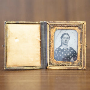 Antique Framed Ambrotype of Young Woman