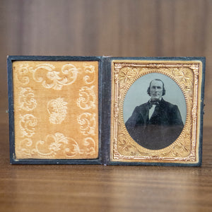Antique Framed Ambrotype of Large Man
