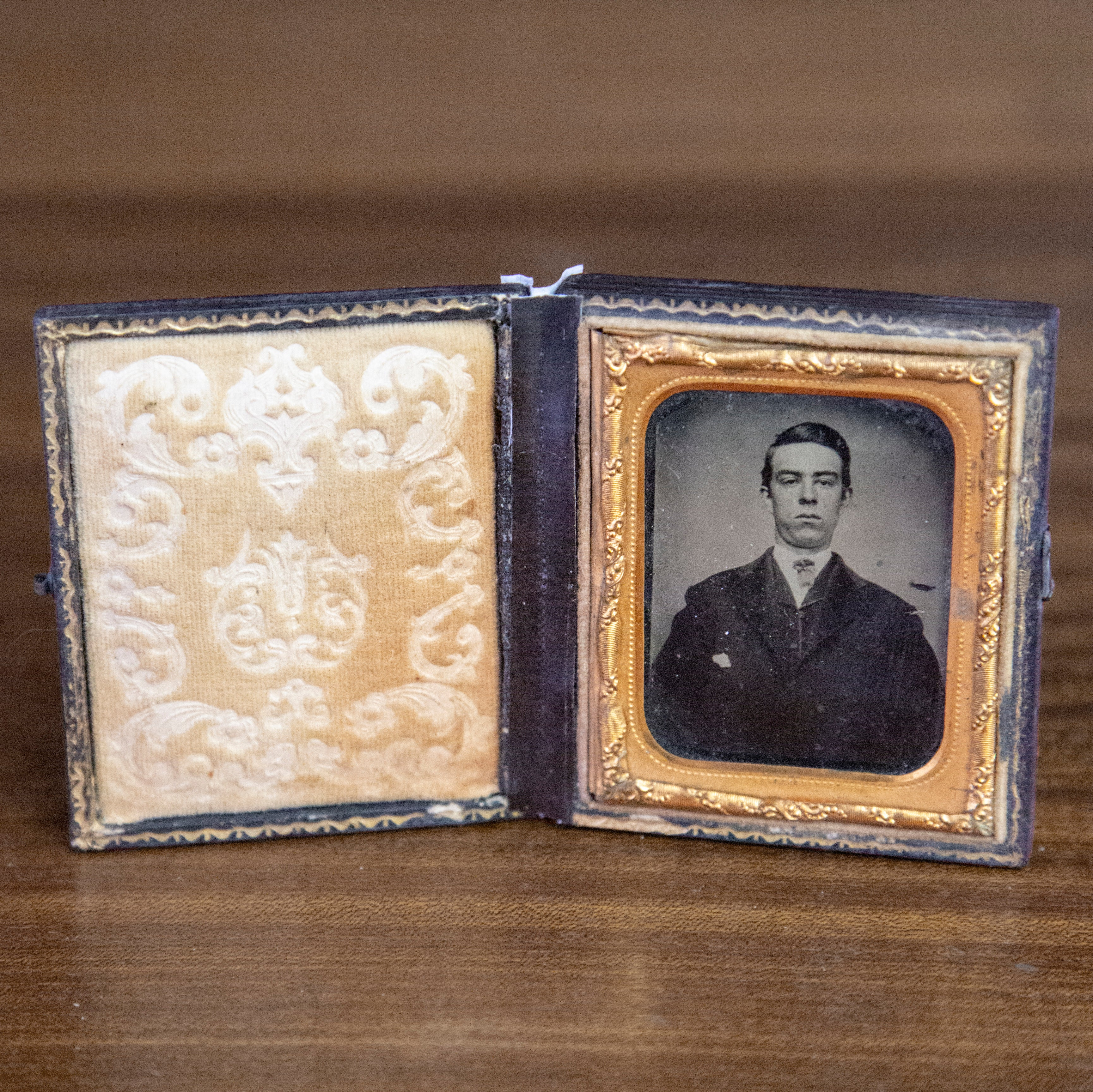 Antique Framed Ambrotype of Young Man