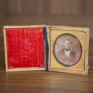 Antique Framed Daguerreotype Of Gentleman