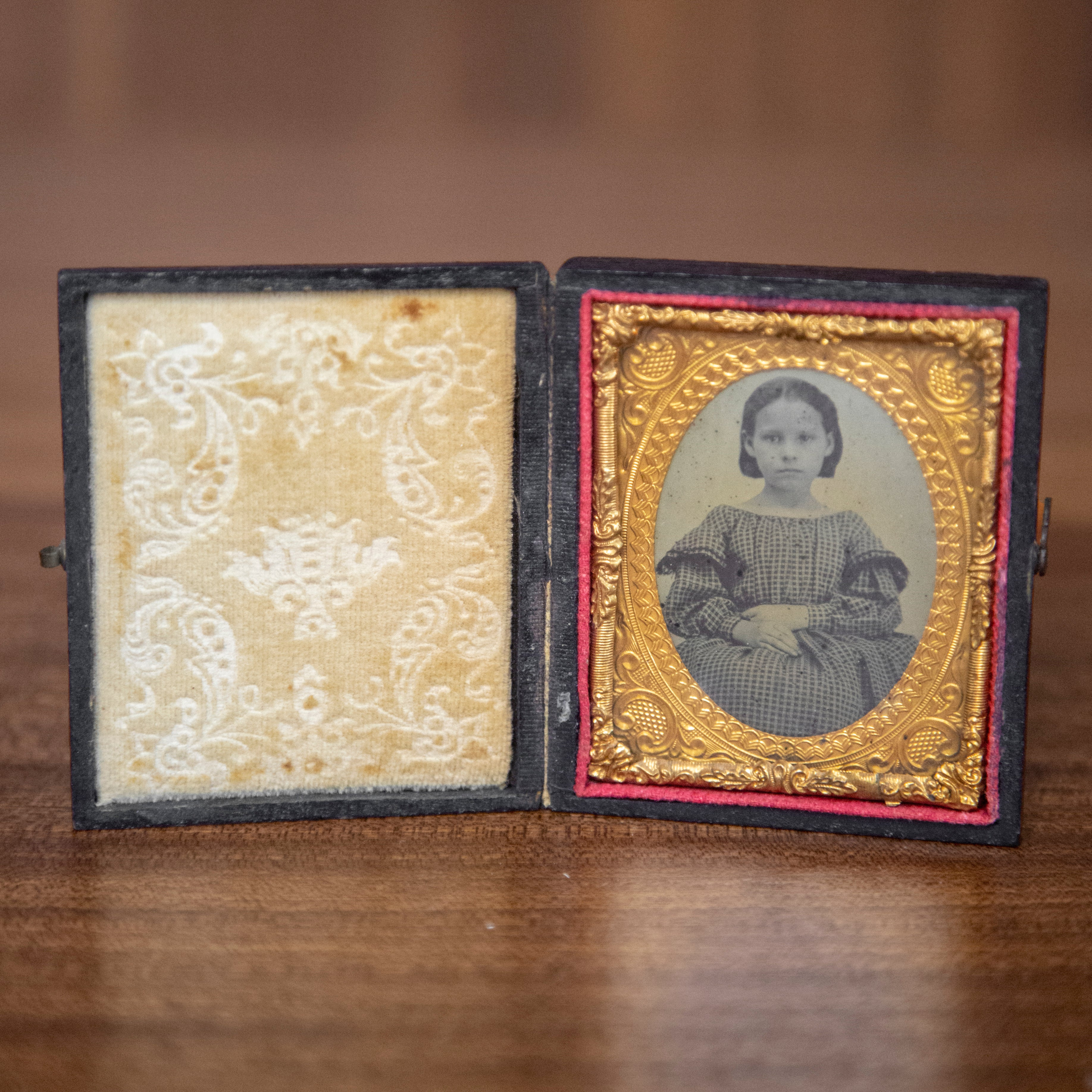 Antique Framed Ambrotype of Young Girl