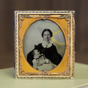 Antique Mother & Child Ambrotype