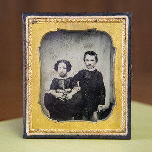 Antique Ambrotype Brother & Sister
