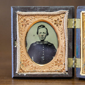 Antique Tin Type in Daguerreotype Frame