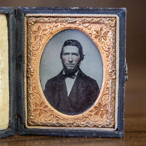 Antique Framed Ambrotype of Bearded Man