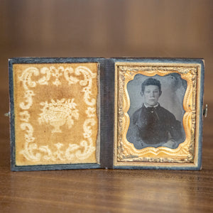 Antique Framed Ambrotype of Young Boy
