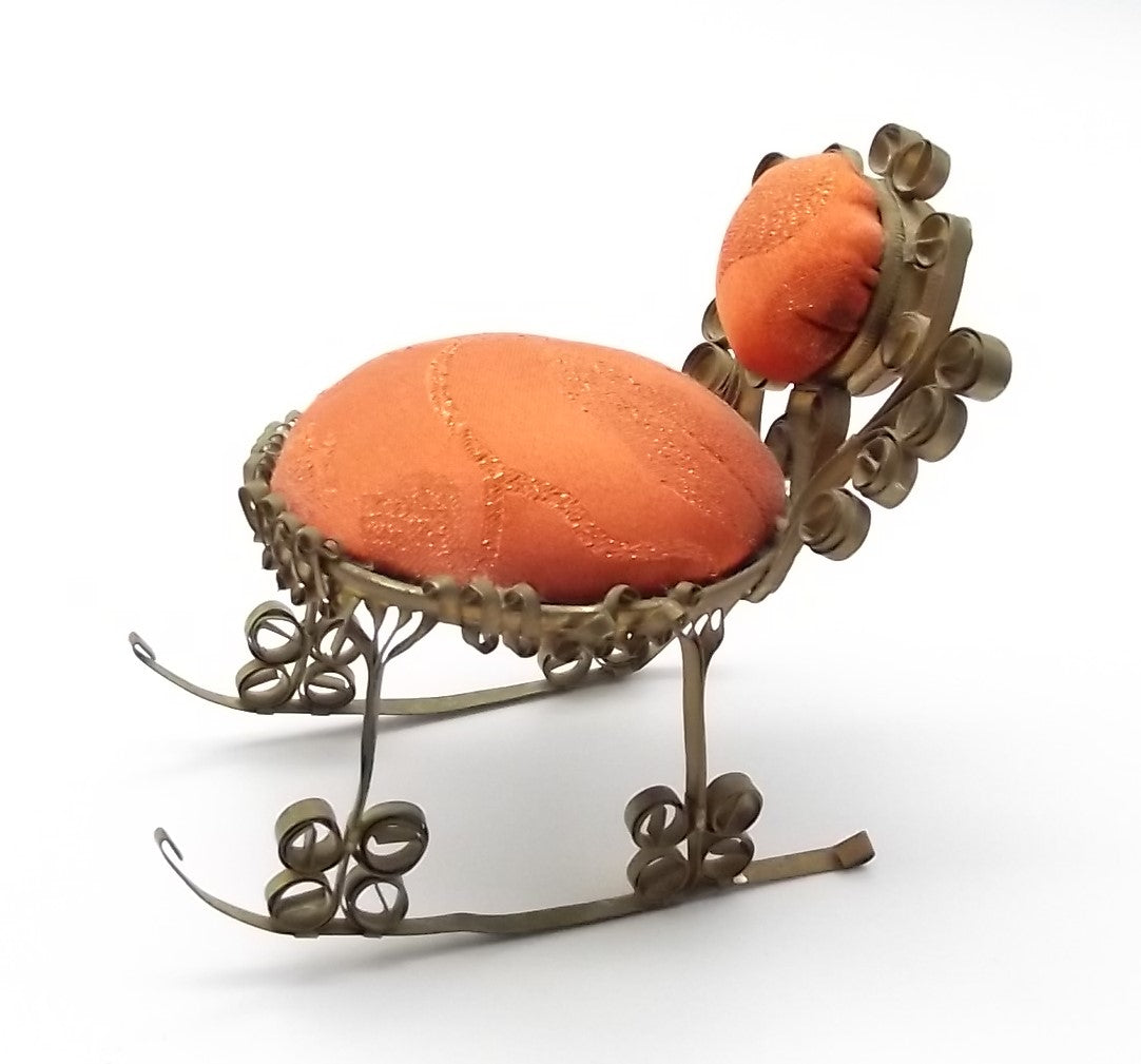 Vintage Folk Art Rocking Chair Pin Cushion