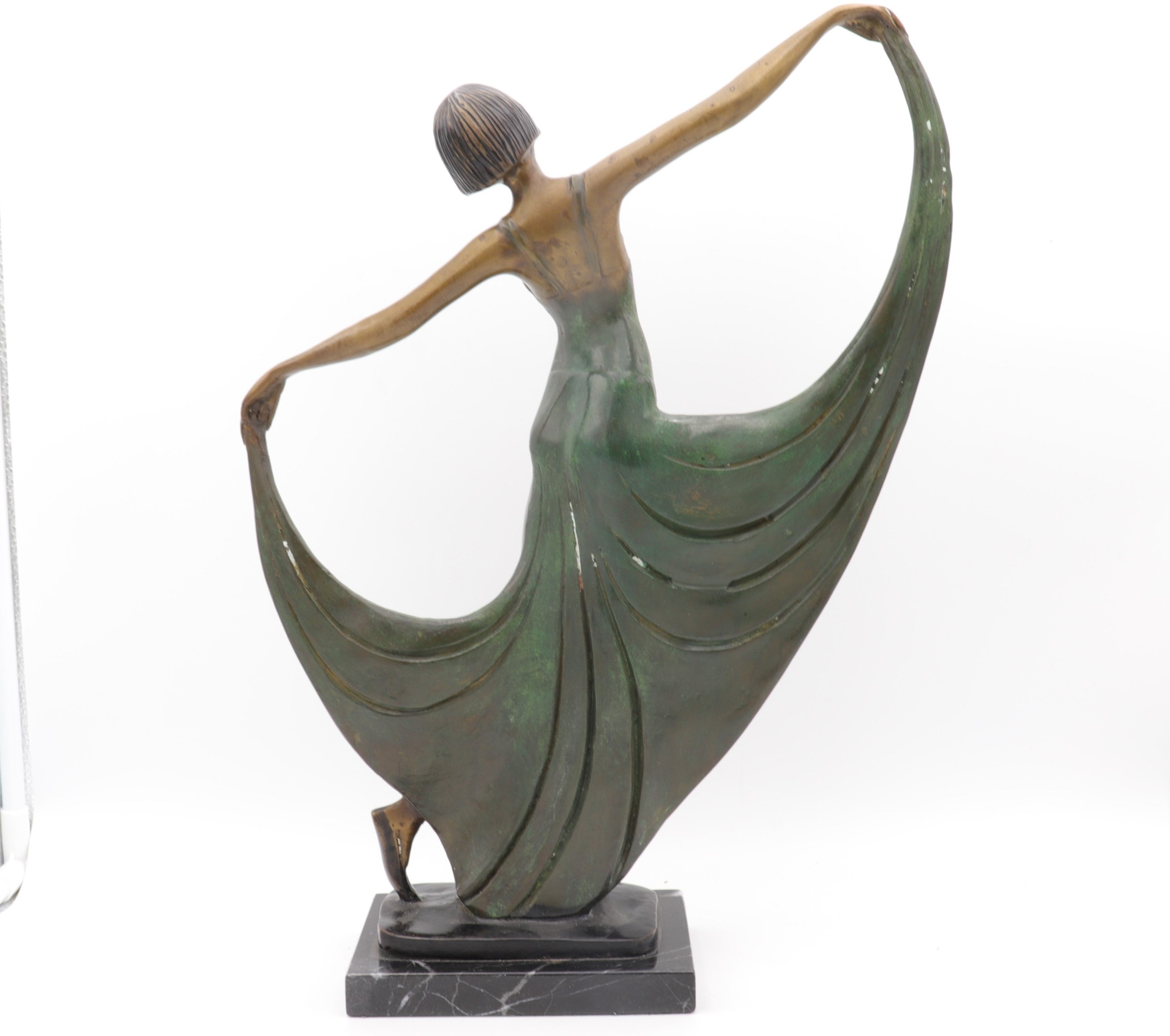 Vintage French Bronze Dancer Statue