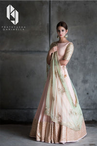 Baby Pink Color Party Wear Designer Lehenga Choli