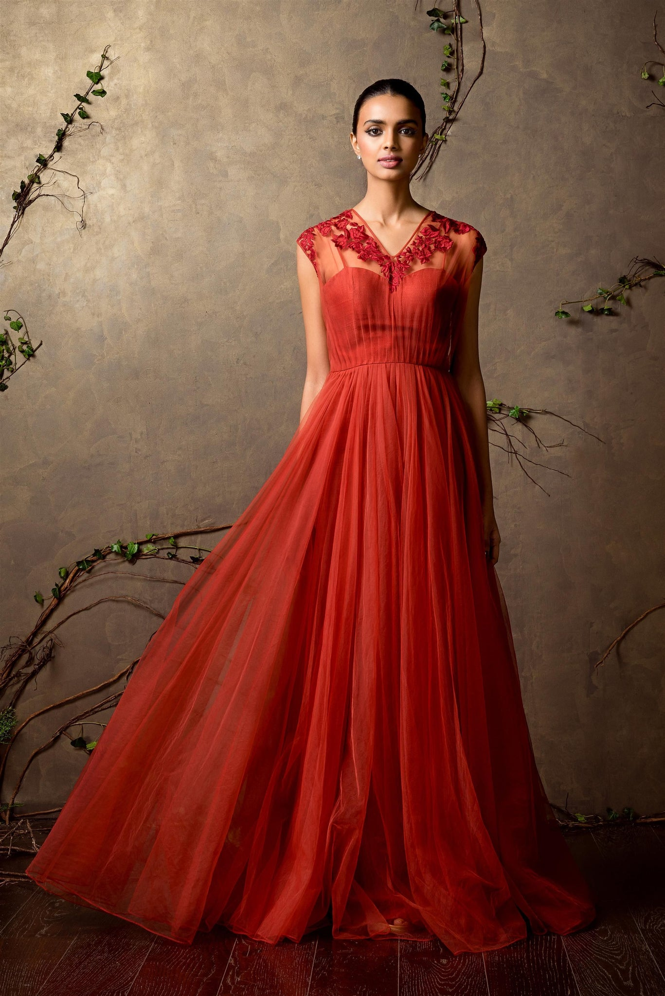 Red Color Attractive Designer Gown FF10019