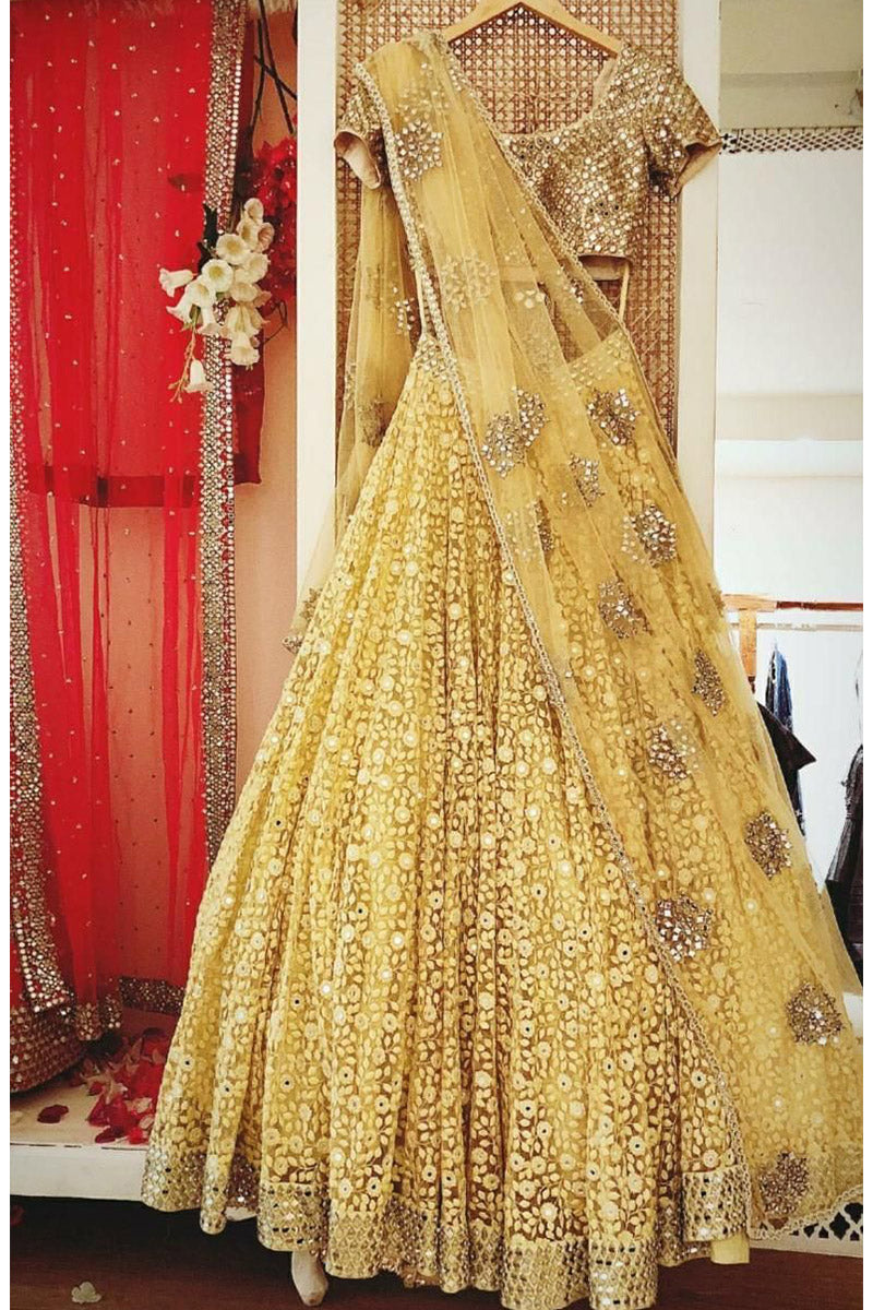 Light Yellow Color Attractive Designer Lehenga Choli