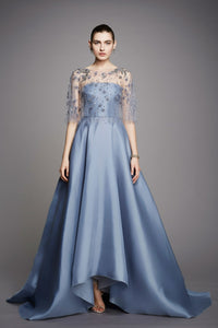 Stone Blue Color Western Style Attractive Designer Gown  FFSK-2021