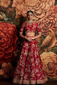 Exclusive Heavy Designer Beautiful Bridal Red Color Bridal Lehenga Choli FF202