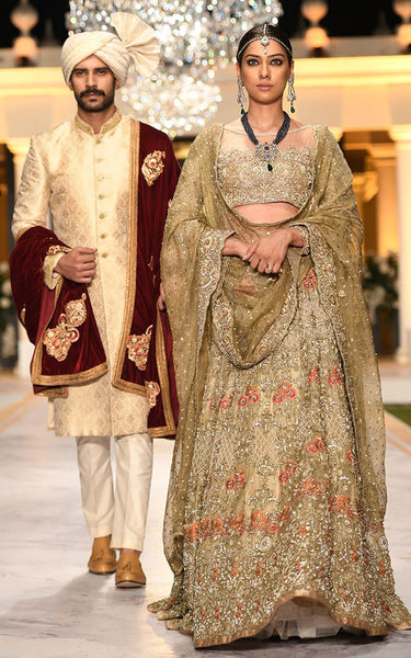 FF-018 Pakistani Bridal Gown-FABBILY