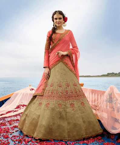 Beige Color Heavy Exclusive Wear Designer Lehenga Choli
