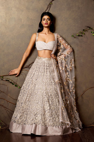 A Heather Purpal Embroidered Lehenga For Wedding FF1540