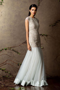 Off-White Color Attractive Designer Mermaid Gown FF1034