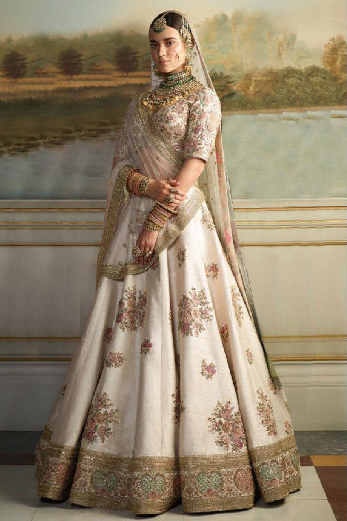 A Beige Color Embroidered Lehenga Choli FBL-1023