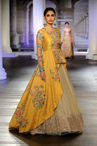Dark Yellow Color Embroidered Designer Gown FFSK-2060