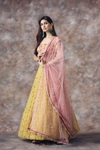 Yellow And Beige Color Combination Attractive Designer Lehenga Choli