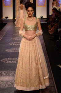 A Baby Pink Embroidered With Hand Work Lehenga Choli FF1553