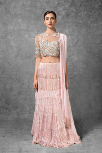 A Light Pink Color Designer Lehenga Choli FBL-1043