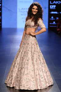 A Pinkish White Wedding Lehenga Choli FBL-1042