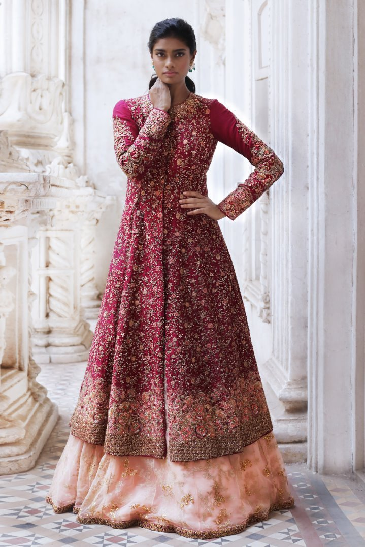 The Pink Tone Beautiful Designer Embroidered Gown FFSK-2022