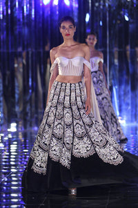 A Black Color Designer Lehenga Choli