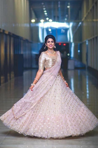 A Baby Pink Embroidered Fully Designer Lehenga Choli FF1807