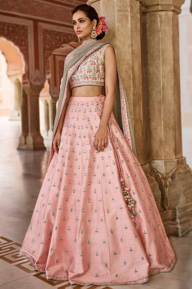 Peach Color Attractive Designer Lehenga Choli