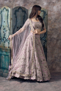 A Pastel Pink Embroidered Attractive Bride Wear Lehenga FF1547