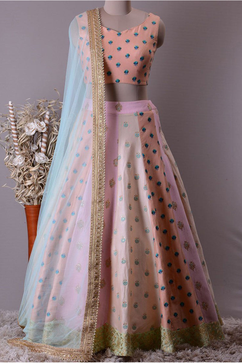 Exclusive Heavy Designer Beautiful Baby Pink Color Party Wear Lehenga Choli FF190