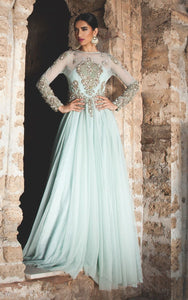 FF-055 Pakistani Bridal Gown-FABBILY