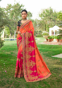 Attractive Designer Beautiful Wedding Wear Saree