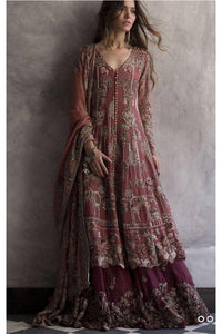 Dusty Red Color Designer Salwar Kameez FF1072
