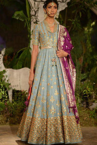 Greyish Blue Color Attractive Designer Salwar Kameez  FF1046